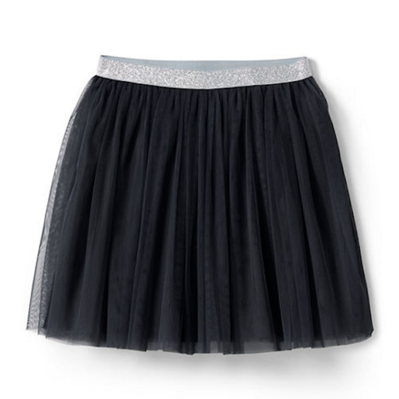 Lands' End Other - NWT Lands' End Black Tulle Skirt Size 6X-7
